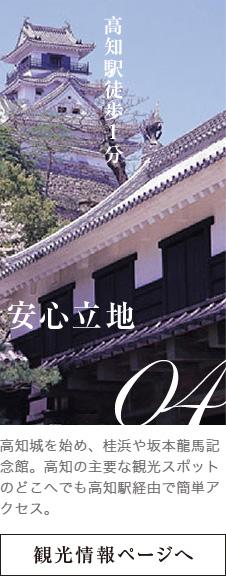 高知駅徒歩1分 観光情報ページへ